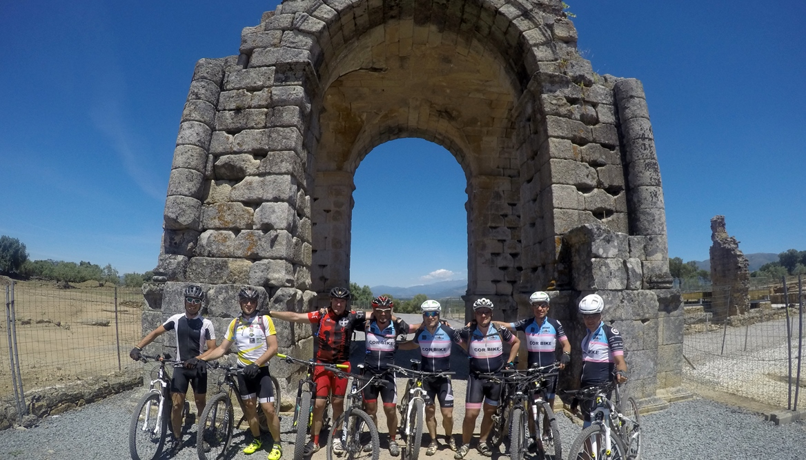 Camino de Santiago bike tour. Roman arch | BIKING THROUGH SPAIN
