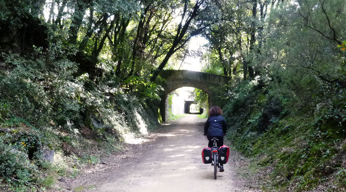 Pirinexus on bike Greenway | BIKING THROUGH SPAIN