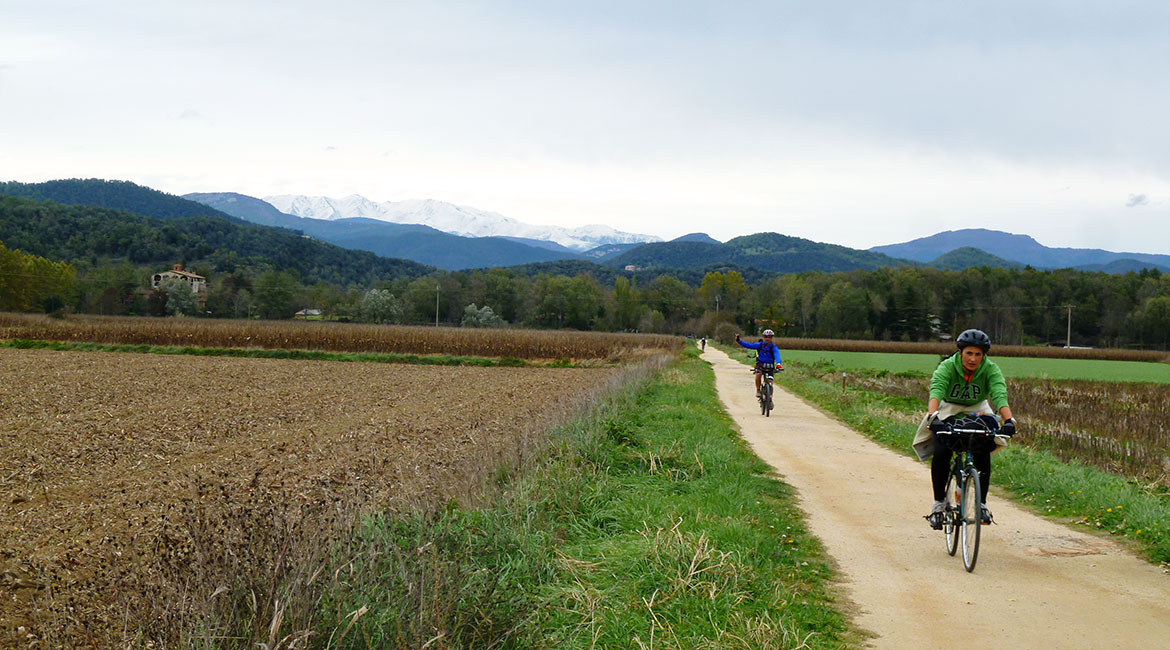 Pirinexus on bike Garrotxa | BIKING THROUGH SPAIN