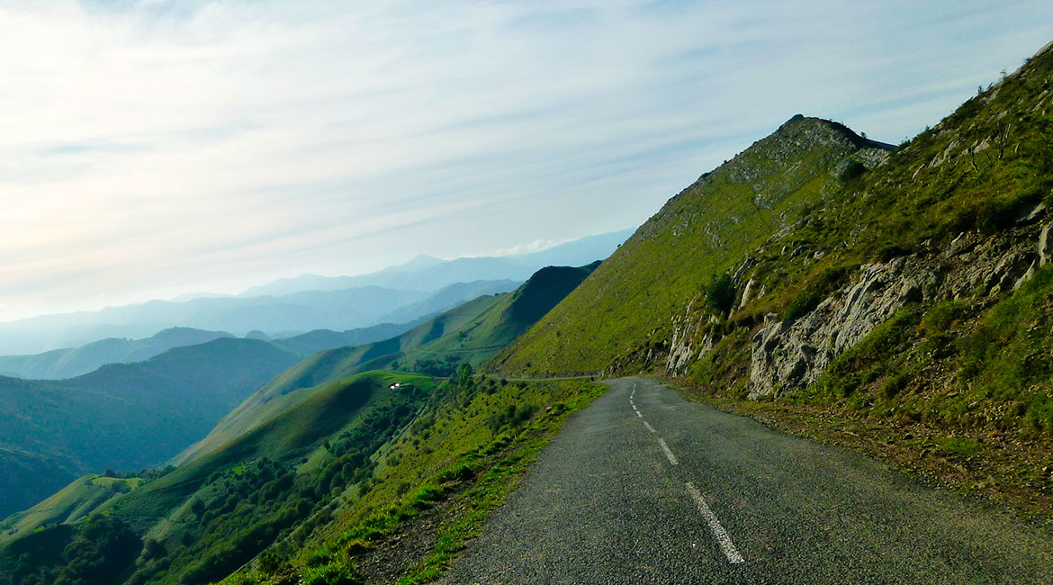 Pyrenees on bike Ahusky. BIKING THROUGH SPAIN 1170X650