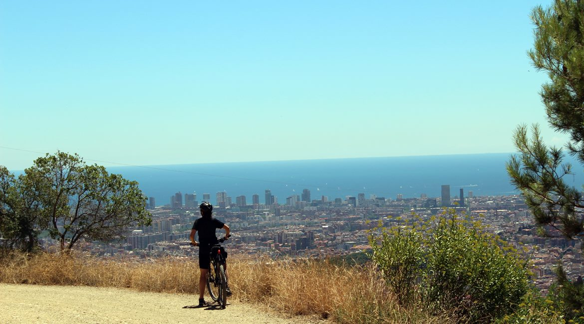 Barcelona from the Tibidabo mountain. The Mediterranean| BIKING THROUGH SPAIN