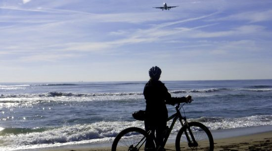 Cycling from Colonia Guell to Llobregat Delta. The beach | BIKING THROUGH SPAIN