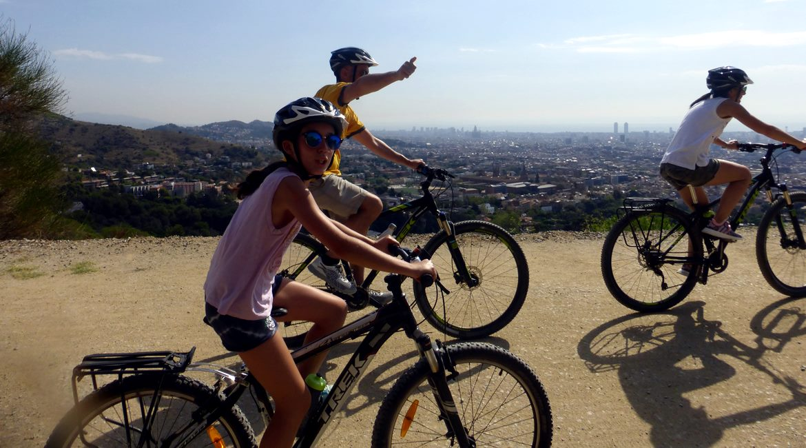 Barcelona from the Tibidabo mountain. Carretera de les Aigües | BIKING THROUGH SPAIN