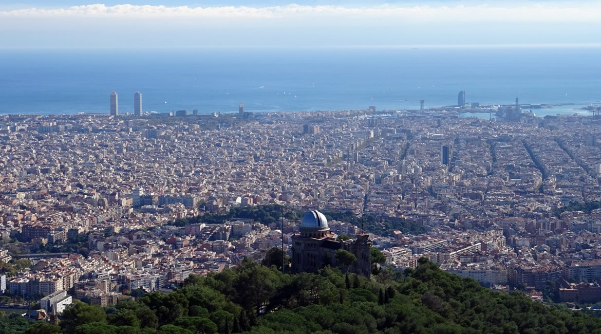 Barcelona from the Tibidabo mountain. Observatori Fabra | BIKING THROUGH SPAIN