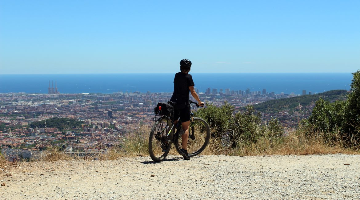 Barcelona from the Tibidabo mountain. The city | BIKING THROUGH SPAIN