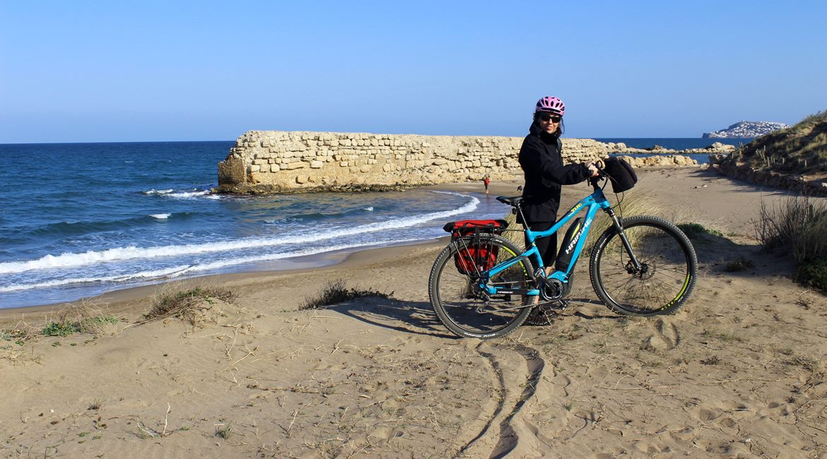 Costa Brava and Empuries on bike. Ancient dock | BIKING THROUGH SPAIN